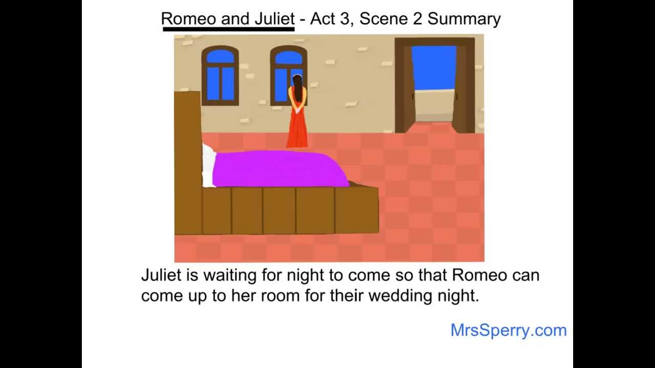 romeo and juliet act scene summary romeo and juliet act 3 scene 2 summary