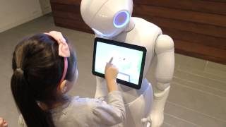 Pepper the robot and it