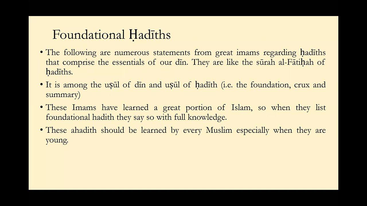 Al-Arba'in al-Nawawiyyah Hadith 1.3 || Shaykh Nafis