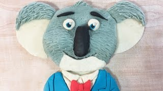 Buster Moon (Koala in SING) made with Play-Doh. Granny B. shows you how to do this..