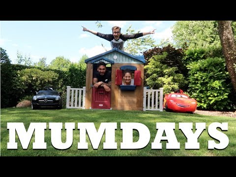 Building a playhouse with Tom and Mario   MUMDAYS