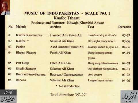 "Music of Indo Pakistan "" Kaafee Tthaaath"" (Part 1) Archives Lutfullah Khan"