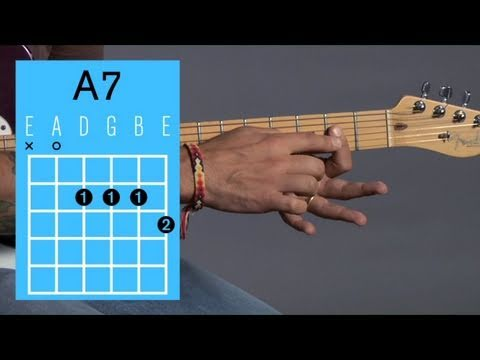 How To Play An A7 Open Chord Guitar Lessons Youtube