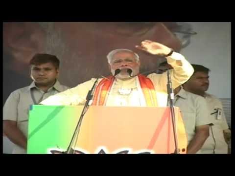 Shri Narendra Modi addressing a massive rally in Krishnanagar, West Bengal