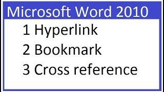 Insert Tab links block option Hyperlink, Bookmark, Cross-reference in Ms Word