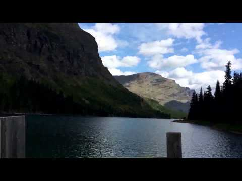 Time lapse of scenes around Many Glacier area, Glacier National Park