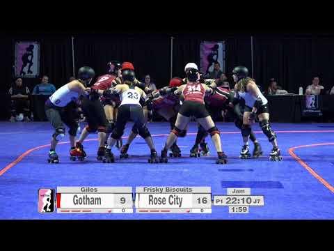 2017 International WFTDA Championships Game 12: Gotham Girls Roller Derby vs  Rose City Rollers