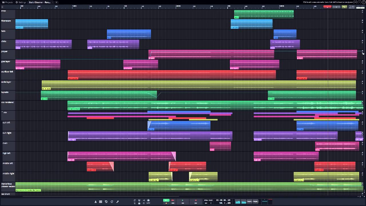Tracktion T7 UI Elements