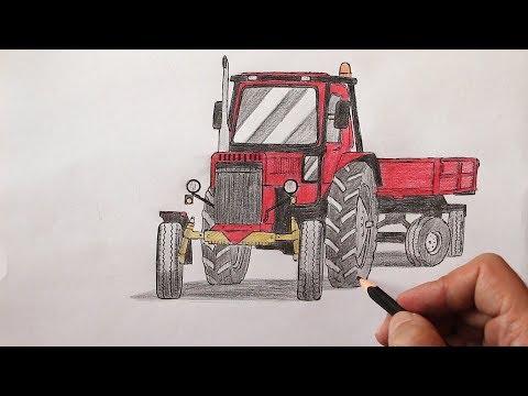 Как нарисовать Трактор поэтапно и легко