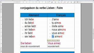 verbe rencontrer allemand