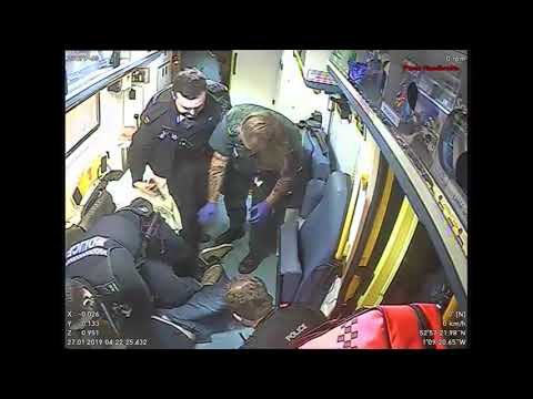 CCTV Footage Of Assault Of EMAS Ambulance Crew In Nottingham