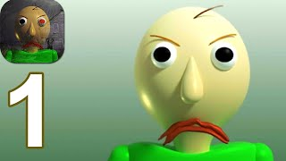 Horror Baldi's Granny Mod Chapter uno - Gameplay Walkthrough Part 1 (Android,iOS)