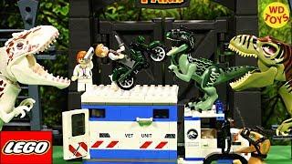 New Lego Jurassic World Raptor Rampage 75917 Stop Motion Speed Build Vs Indominus Rex Dinosaur Toys