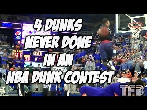 Guy Dupuy does 4 Dunks NEVER BEFORE DONE in an NBA Dunk Contest within 3 Minutes