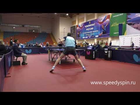 Sidorenko-Skachkov.1/8 Russian National table tennis championship 2018.FHD