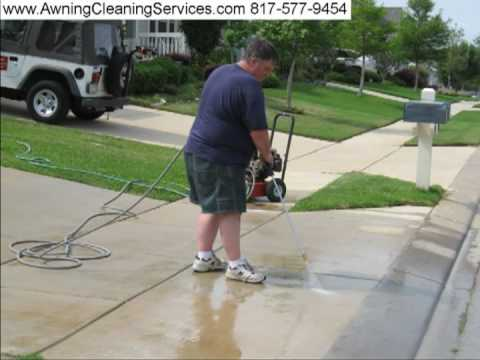 Power Washing Driveway Dallas Fort Worth TX 817-577-9454 Pressure Washing Awning Cleaning since 1984