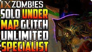 BO4 Zombie Glitches: Solo Under Map Glitch With Unlimited Specialist - IX Zombie Glitches