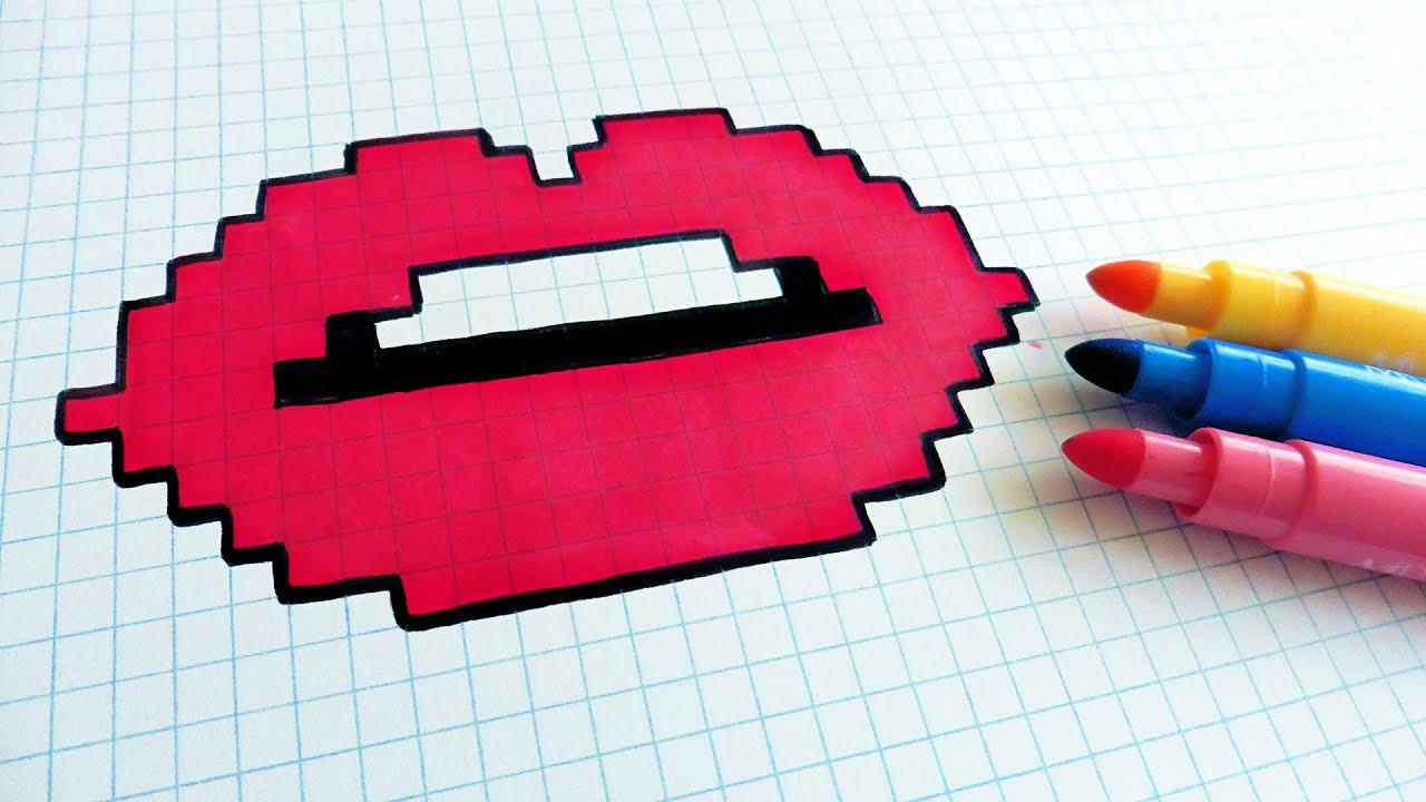 pixel art rouge a levre