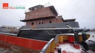 SKPO 1000 N303 11 01 2014(Осуществлен спуск на воду третьего из серии судов комплексного портового обслуживания пр. 03180, строящегося..., 2014-01-13T18:59:34.000Z)