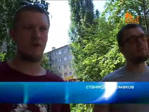 Пожар на ул. Коммунаров в Ельце