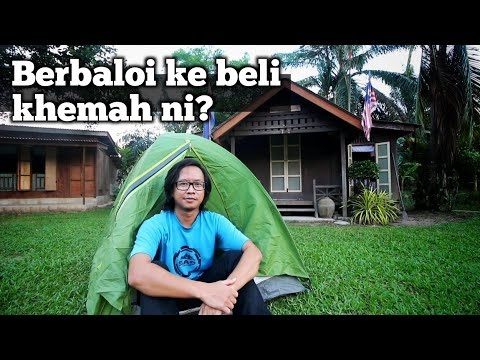 Khemah Murah Tapi POWER Untuk Travel / Backpacking / Outdoor - Quechua Arpenaz 2 Camping Tent