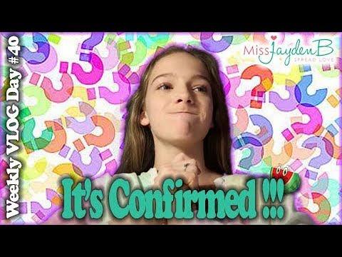 It's Confirmed! Vlog Day #40 || Jayden Bartels