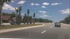 Driving Beach Blvd passing Hodges Blvd and San Pablo Rd Jacksonville Fl Florida