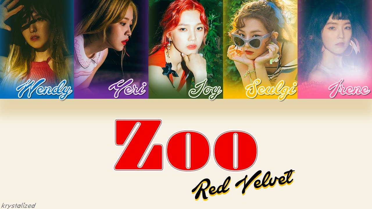 red velvet 레드벨벳 zoo han rom eng color coded lyrics youtube