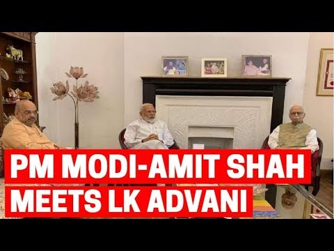 Day after Lok Sabha poll win, Modi, Amit Shah visit LK Advani, MM Joshi to seek blessings