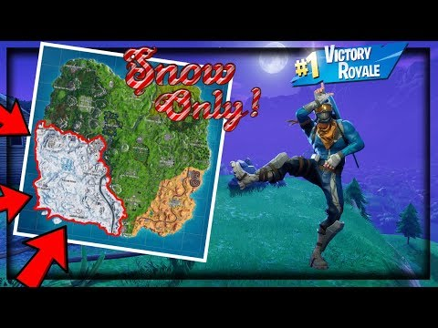 Can You Win A Game Of FortNite, Without Leaving The Snow Biome? (snow Only Challenge)