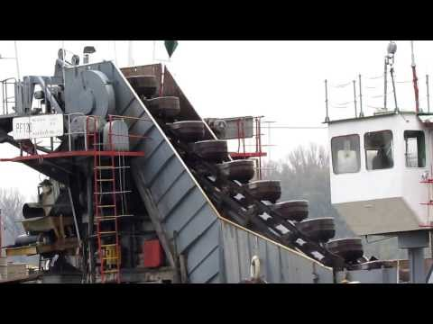 PF 120 vedersoros kotró / Baggermolen / Bucket Dredger / HD