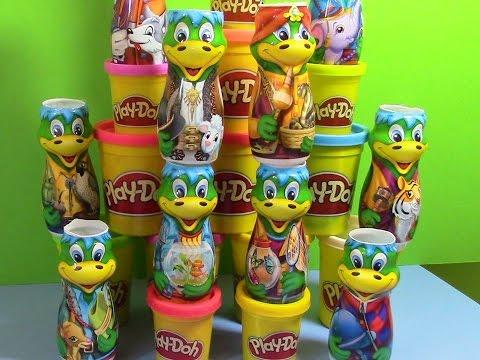 恐竜 Dinosaurs -- Danonino Collection Play-Doh surprise eggs Динозавры เปิดกล่องไดโนเสาร์แปลกใจ