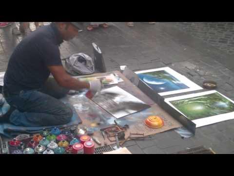 Artist on the streets (Rome art)