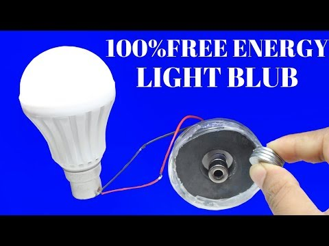 100% Free Energy Light Bulbs For Life Time Using Magnet and Bottle - 100% Free Energy Using  Bottle