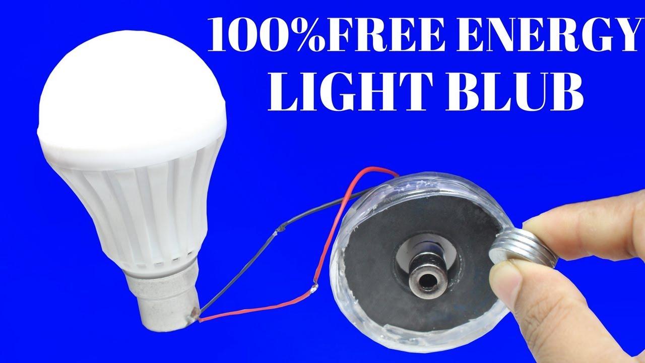 100% Free Energy Light Bulbs For Life Time Using Magnet And Bottle   100%  Free Energy Using Bottle