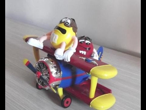 Mms Toy Airplane Chocolate Candy Dispenser Plastic M M S
