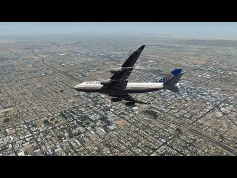 Emergency Landing Phoenix United 747 Engines Fail