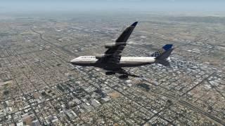 Emergency Landing Phoenix United 747 Engines Fail
