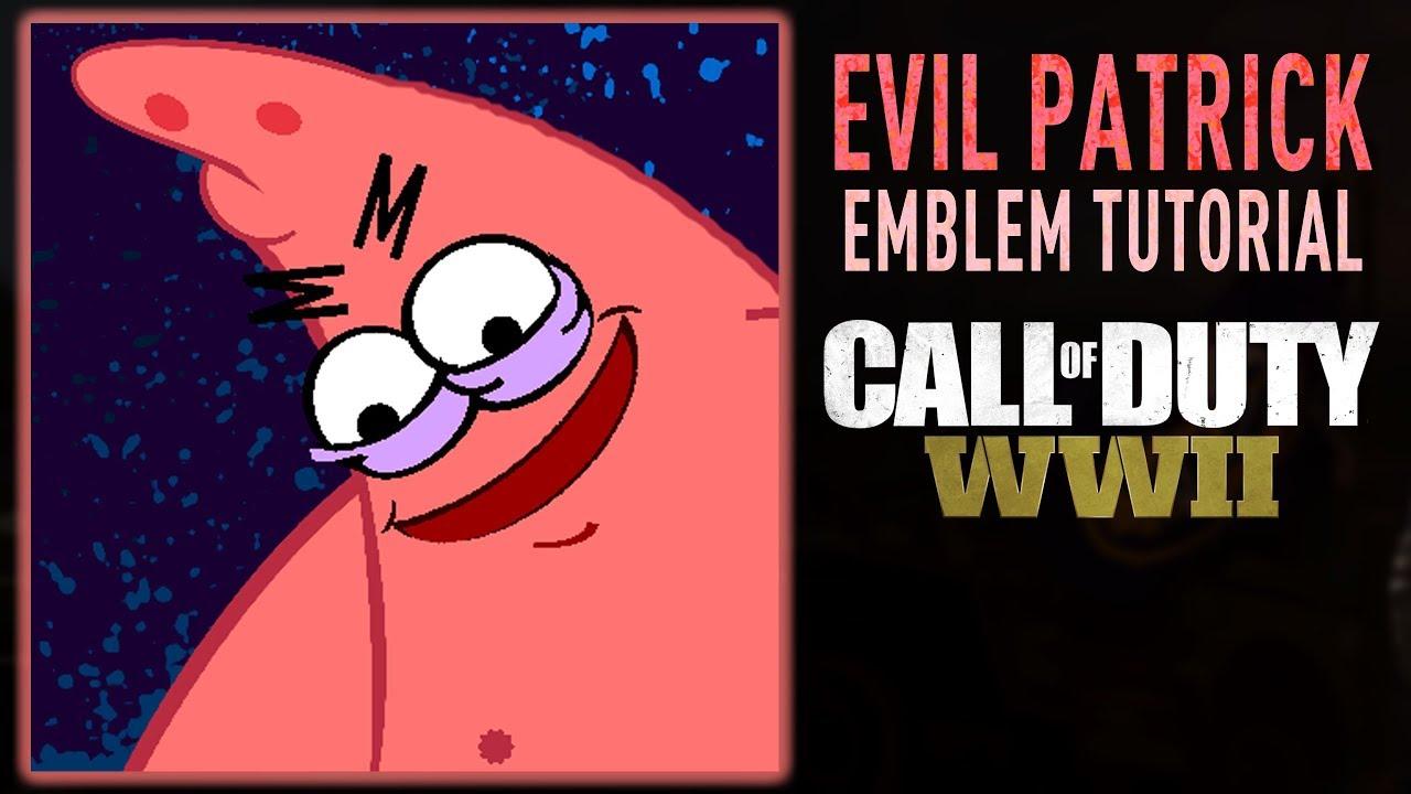 EVIL PATRICK MEME Emblem Tutorial (Call of Duty: WWII WW2 ...