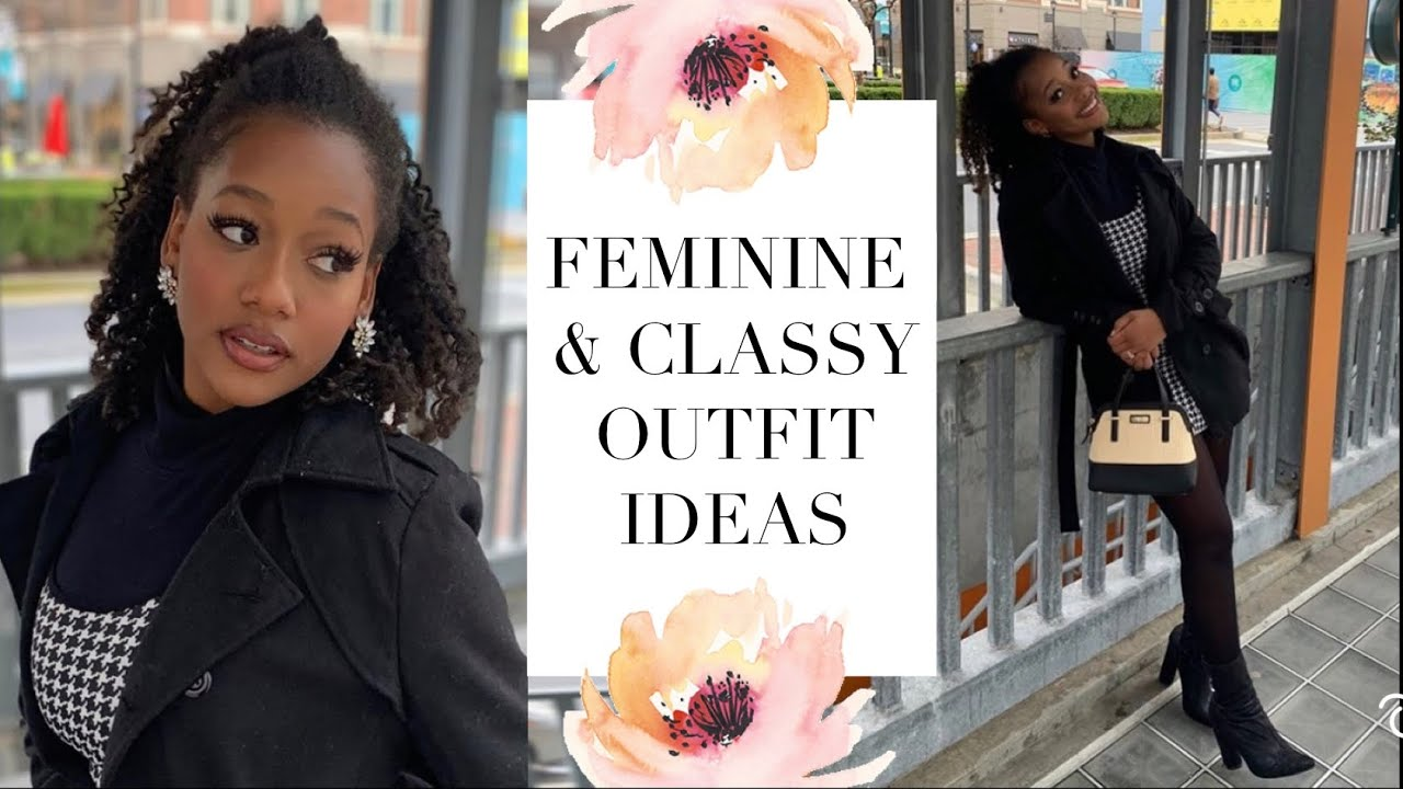 FEMININE & CLASSY LOOKBOOK 🎀 Spring & Winter Outfits! | Ebony Nikita