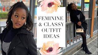 FEMININE & CLASSY LOOKBOOK 🎀 Spring & Winter Outfits! | Ebony Nikita