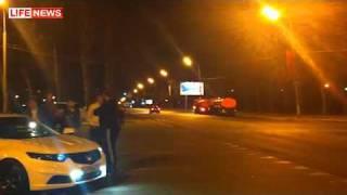 VIP машина с мигалкой устроила гонки в Москве