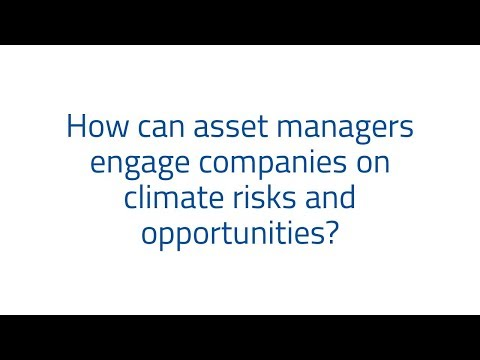 How can asset managers engage companies on climate risks and opportunities?