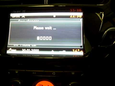 How to set 'HOME' on Citroen MyWay Sat Nav  YouTube