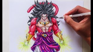 Como Dibujar a Broly ssj4 | How to Draw Broly ssj4 | Artiz HD