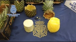 Spanish police seize cocaine-stuffed pineapples