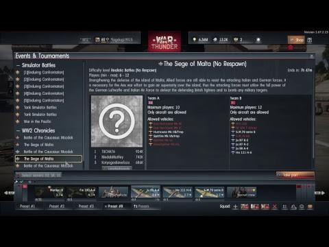 War Thunder WW2 Chronicles  Event