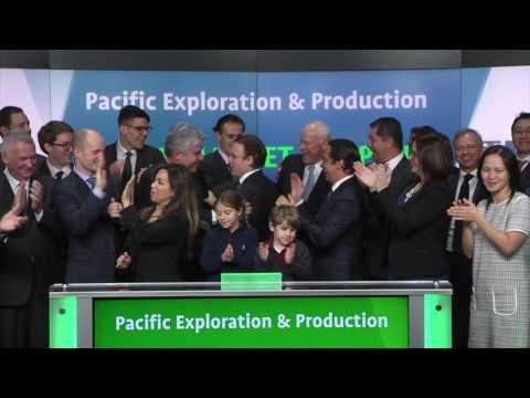 Pacific Exploration & Production opens Toronto Stock Exchange, January 26, 2017