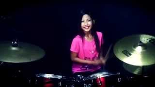 Repeat youtube video Biru Band - Pacar Yang Hilang - Drum Cover by Nur Amira Syahira