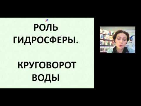 Организация образовательного процесса по изучению раздела  Гидросфера